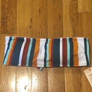 Garage Stripe Bandeau Swim Top- Small